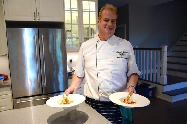 Chef Don prepares private catering at Muskoka Soul Luxury Rental properties on Lake Muskoka