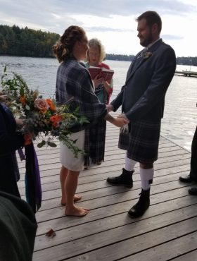 Plan an intimate wedding in any season and transform the Great Room into a breathtaking venue for your intimate muskoka wedding at a private vacation rental, muskoka soul!