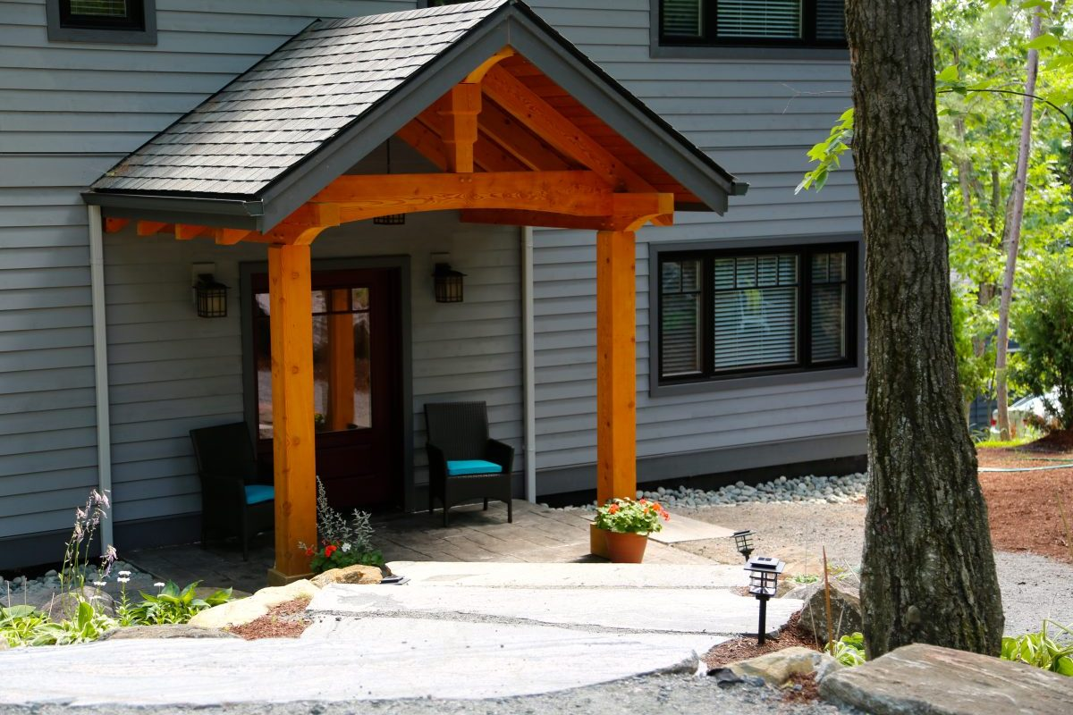 Welcome to the front door at Muskoka Soul | Cliff Bay cottage rental