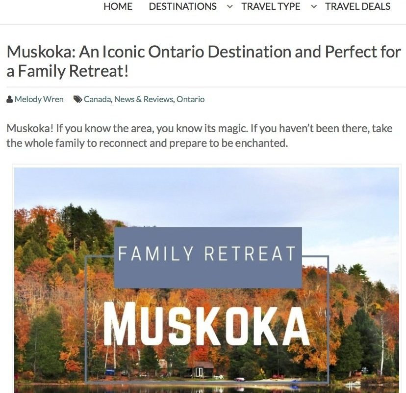 Family retreat in muskoka at muskoka soul cliff bay to experience gravenhurst, the region and the best that it has to offer on a family vacation