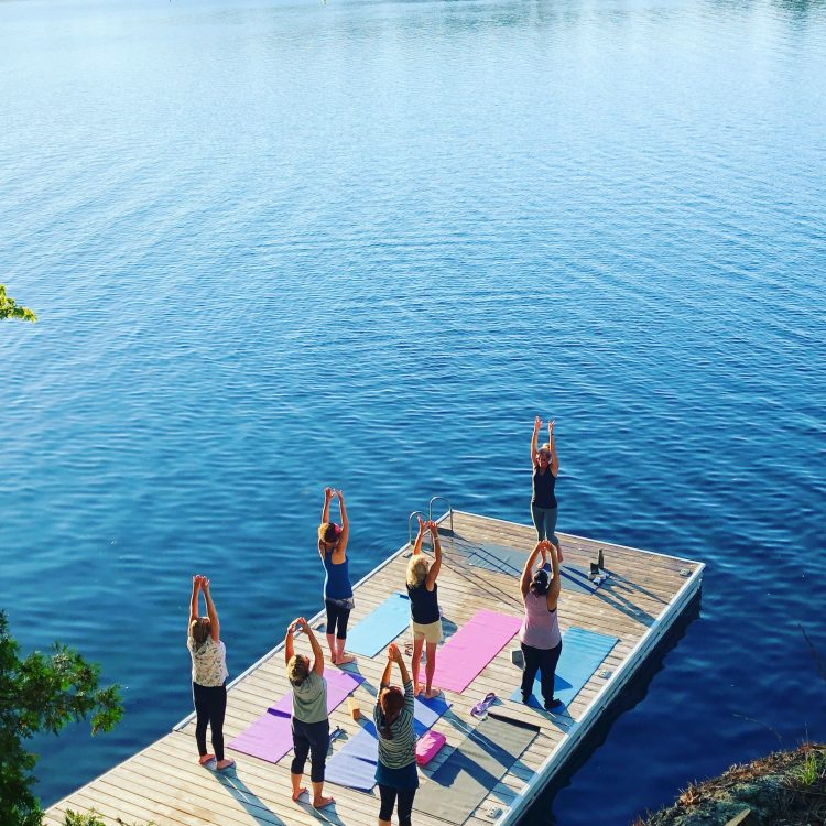 yoga dockside for your retreat at Muskoka Soul extraordinary escapes is part of your wellness retreat