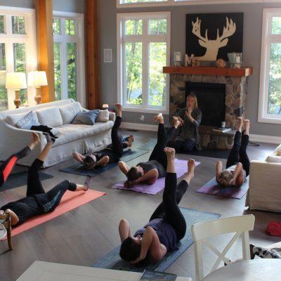 yoga retreat, wellness, relaxing & felding you soul at Muskoka Soul on Lake Muskoka
