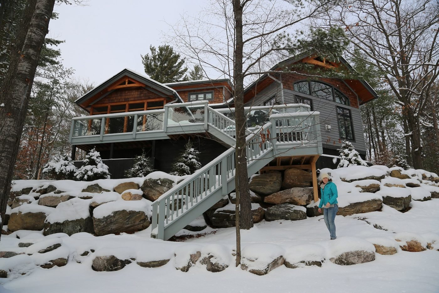 Winter magic is just outside the door at Muskoka Soul luxury cottage rentals