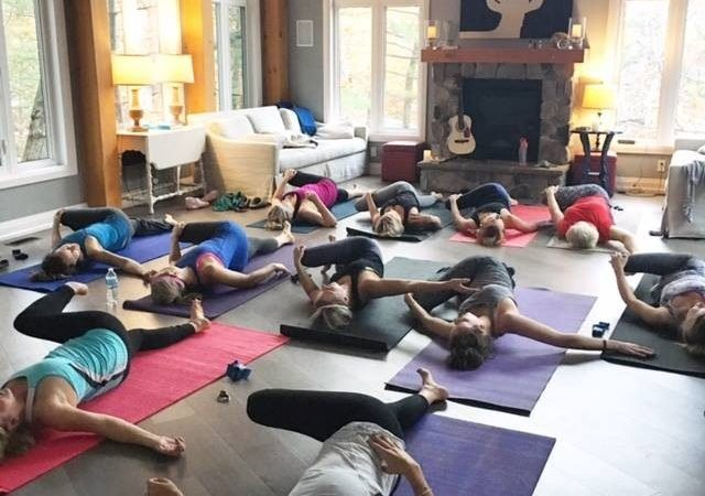 yoga or wellness retreat in the Great Room at Muskoka Soul is the perfect space