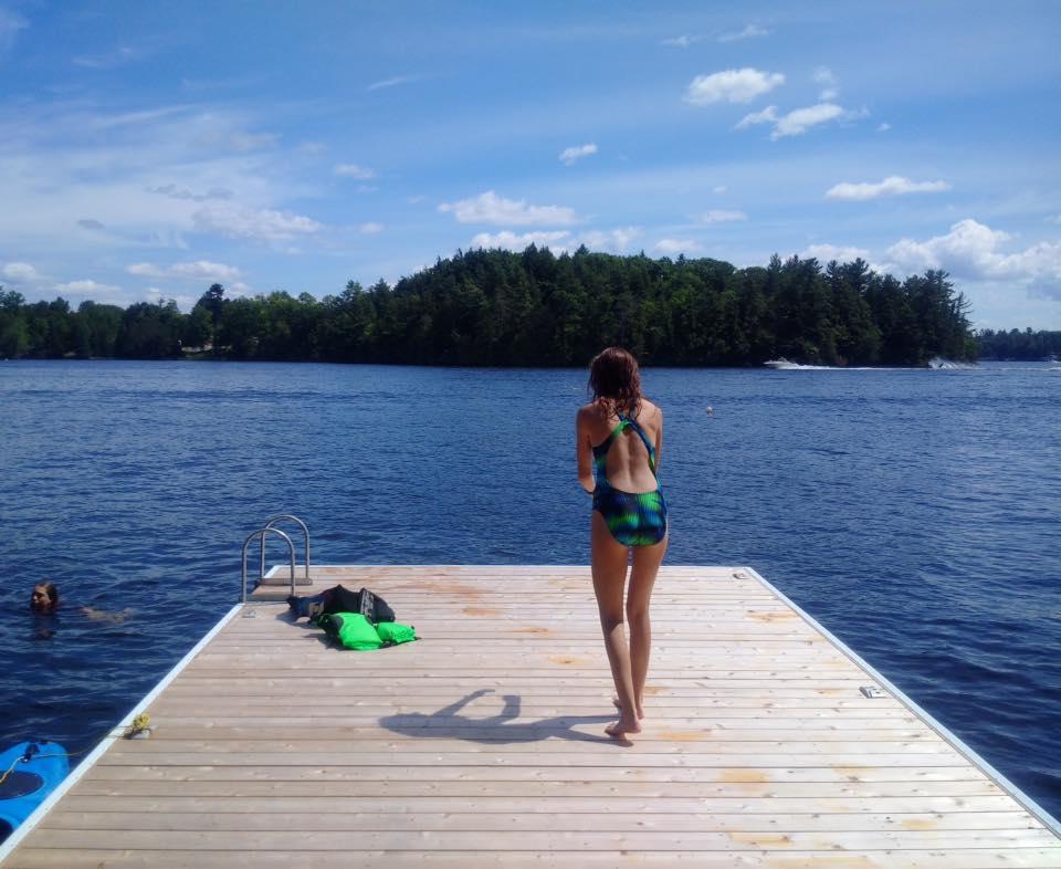 Jump in Spectacular Lake Muskoka