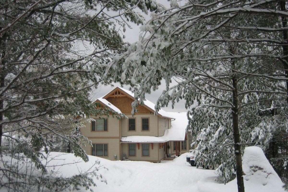 Winter wonderland in Muskoka just outside the door of Muskoka Soul, Two extraordinary escapes in Ontario, Canada