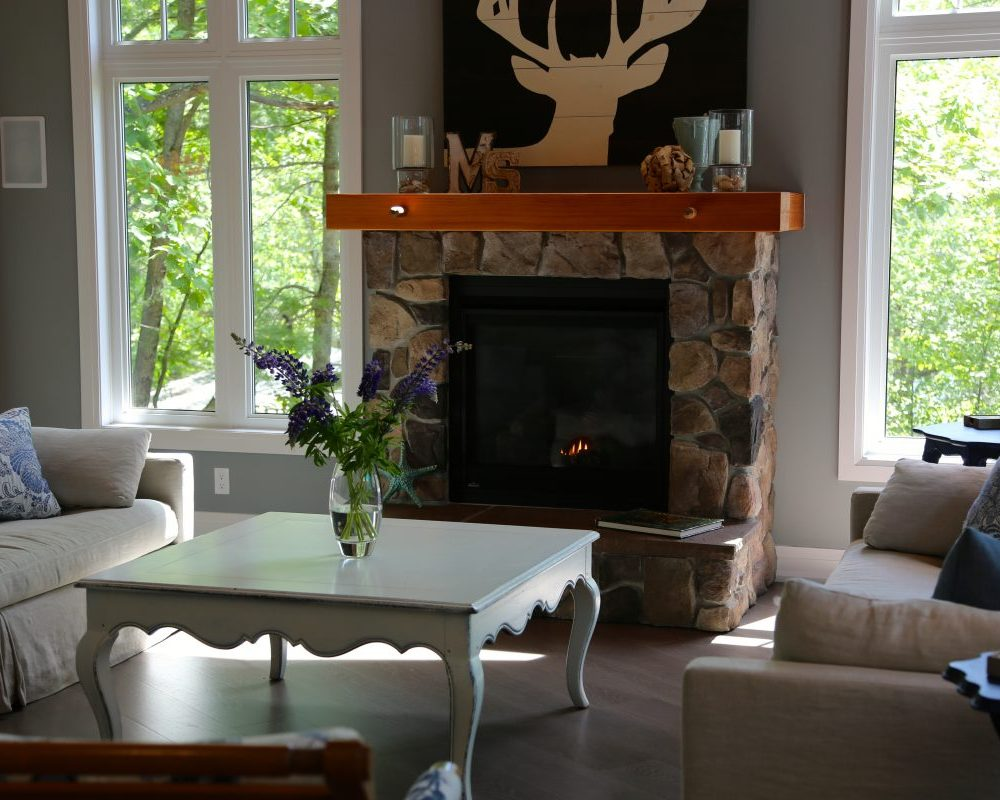 Come sit by the fire, play a game, read a book,at our muskoka cottage rentals, Muskoka Soul