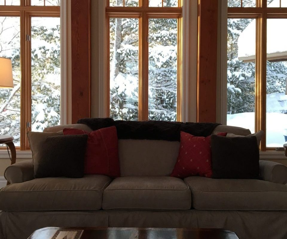 See the Winter wonderland in Muskoka through the Lakeside windows at Muskoka Soul, Two extraordinary escapes in Ontario, Canada