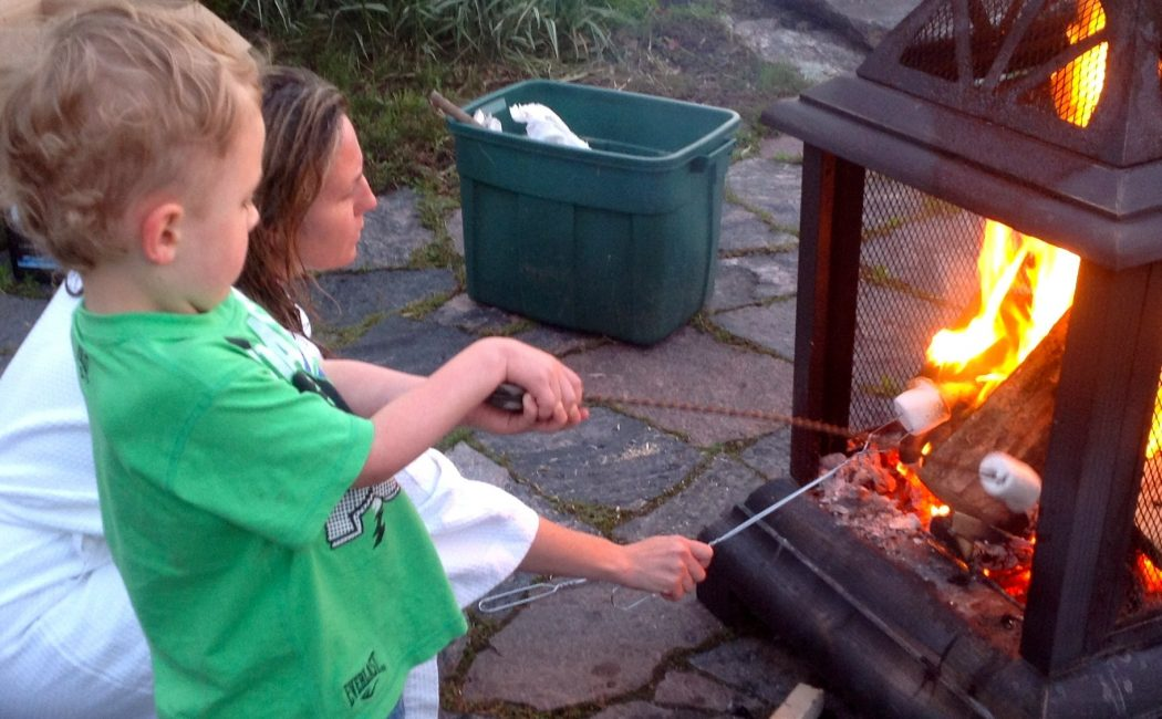 On a family retreat make smores on a cottage getaway that is nothing better than the laughter or family fun in canada