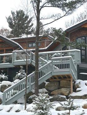 Winter wonderland from our two luxury cottage rentals in Gravenhurst, Ontatio, Canada